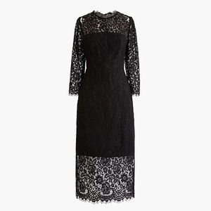 J. Crew Black Lace Dress NWT Size 10